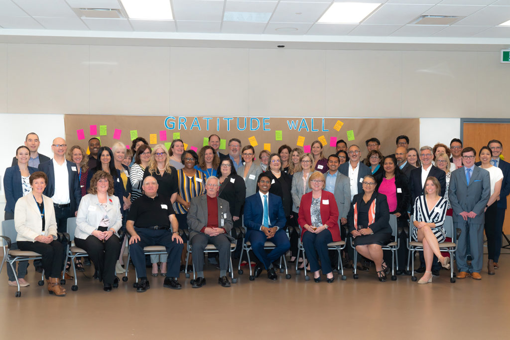 Partners representing the Brampton/Etobicoke and Area Ontario Health Team come together to recognize recent milestones – including completion of a full application and visit with Ministry of Health representatives and external reviewers.